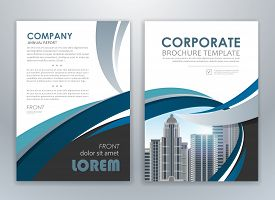 Modern Blue Brochure Design, Brochure Template, Brochures, Brochure Layout, Brochure Cover, Brochure