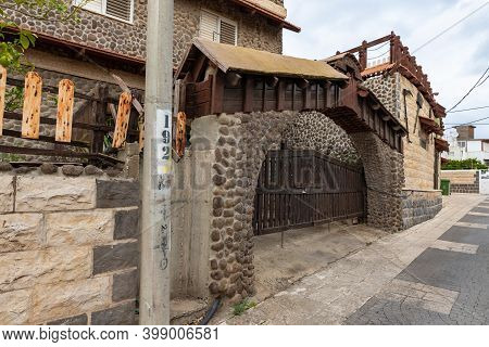 Nazareth, Israel, December 05, 2020 : Architecture In The National Adyghe Style In The Muslim Circas
