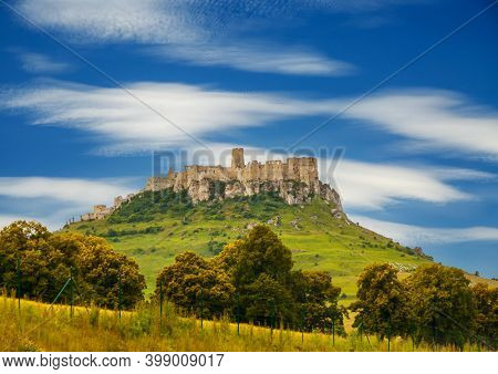 Scenic image of the Spissky hrad National cultural monument. Unesco World Heritage Site. Location place Spis castle, Slovakia, central Europe. Exotic world landmarks. Discover the beauty of earth.