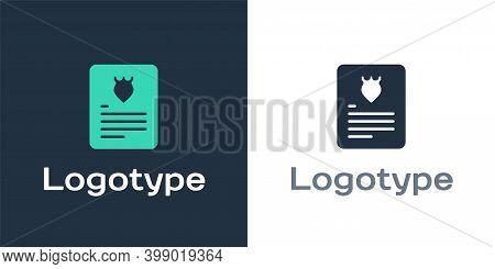 Logotype The Arrest Warrant Icon Isolated On White Background. Warrant, Police Report, Subpoena. Jus