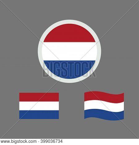 Vector Illustration Of Netherlands Flag Sign Symbol. Netherlands Flag Vector. Netherlands National F