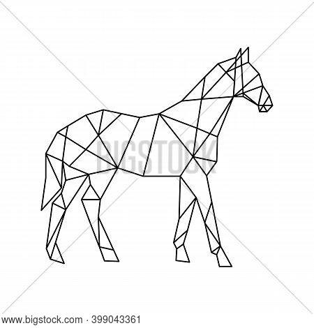 Animal Low Poly Logo Icon Symbol Triangle Geometric Horse Polygon