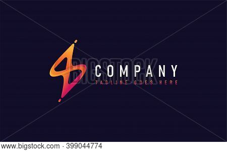 Creative Orange With Flash Lightning Logo Design. Abstract Logo Design, Usable For Business, Communi