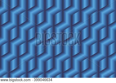 Abstract Blue Cubes Background - Illustration,  Three Dimensional Vector