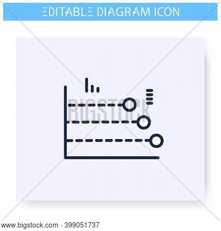 Phase Diagram Line Icon. Process Chart Module. Business, Management, Structure Visualisation. Infogr