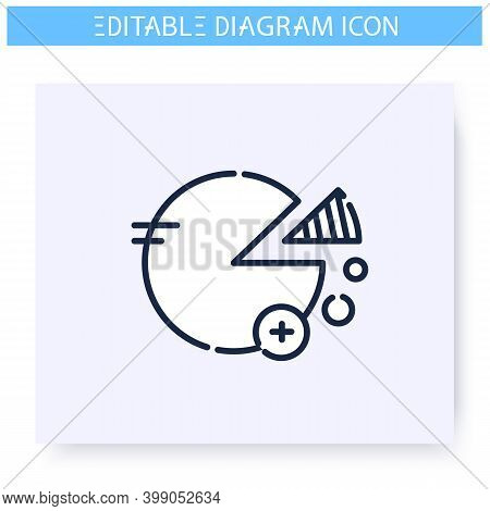 Pie Chart Line Icon. Percentage Diagram. Business, Analytics, Structure Visualisation. Infographic,