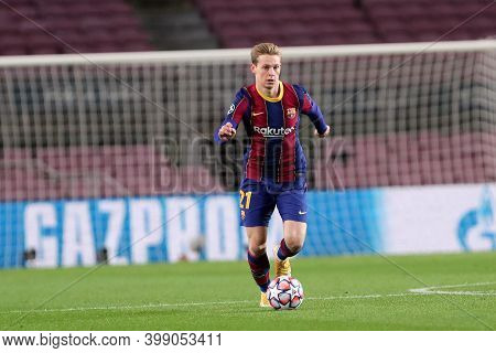 Barcelona (spain). 08th December 2020. Frenkie De Jong Of Fc Barcelona   During The Uefa Champions L