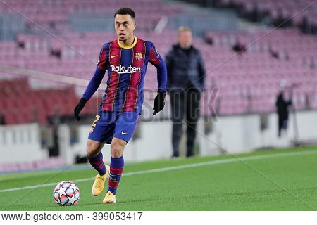 Barcelona (spain). 08th December 2020. Sergino Dest Of Fc Barcelona   During The Uefa Champions Leag