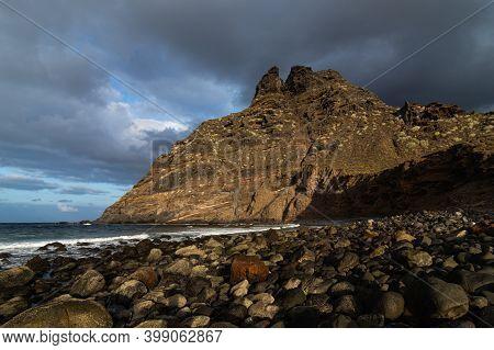 Beautiful Mountains At The Coastline, Punta Del Hidalgo, Tenerife, Canaries
