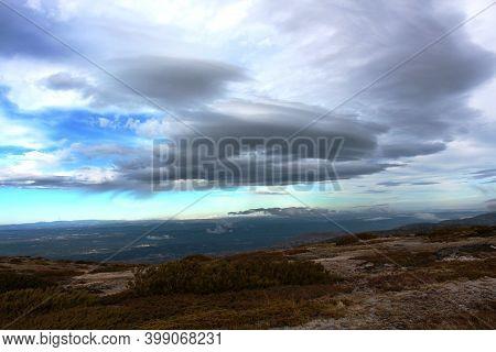Partial View, Landscape Of Serra Da Estrela, Central Region Of Portuga, November 30, 2020.\\nvista P