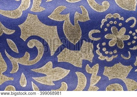 Vintage Textile Flax Fabric Wickerwork Texture Surface