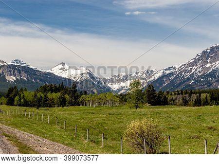 Views Of The Castle Mountain Range. Castle Mountain Pp, Alberta, Canada