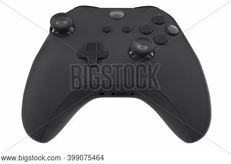 Realistic Video Game Controller Isolated On White With Clipping Path. 3d Rendering Streaming Gear An
