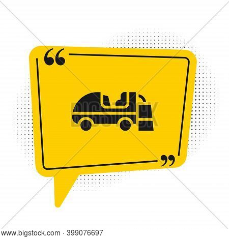 Black Ice Resurfacer Icon Isolated On White Background. Ice Resurfacing Machine On Rink. Cleaner For