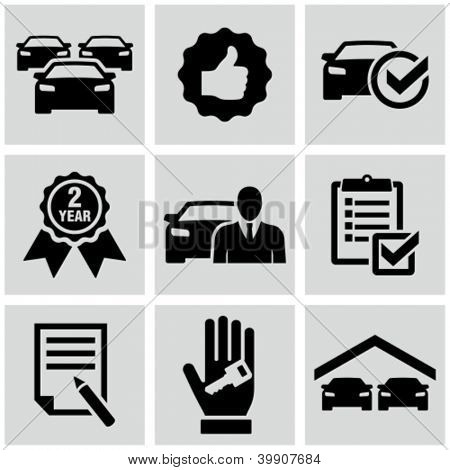 Car dealership icons