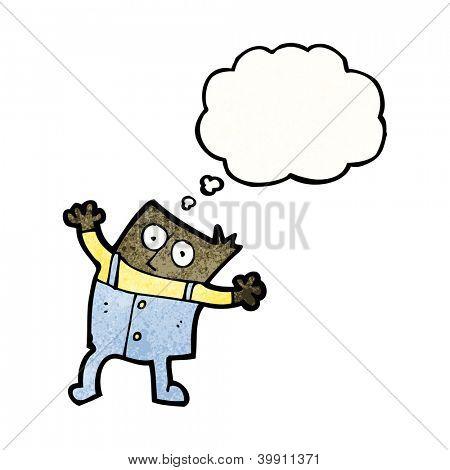 cartoon man in dungarees