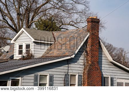 Chimney From The Fireplace House Roof Moder Warm