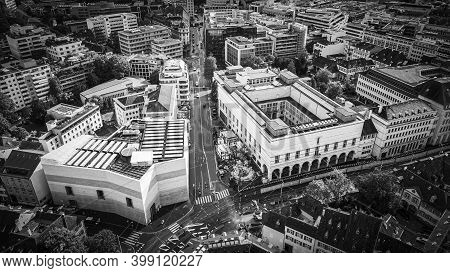 Art Museum Of Basel Switzerland From Above