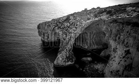 Blue Grotto In Malta Is A Famous Landmark On The Island - Island Of Malta, Malta - March 5, 2020