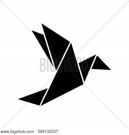 Origami Flying Bird Sign Symbol Icon. Origami Bird. Origami Birds Vector Pack. Origami Birds Vector.