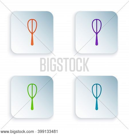 Color Kitchen Whisk Icon Isolated On White Background. Cooking Utensil, Egg Beater. Cutlery Sign. Fo