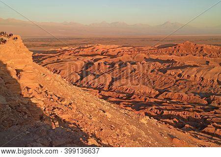 Moon Valley Or Valle De La Luna In Atacama Desert, Northern Chile