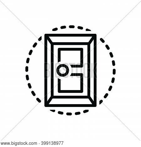 Black Line Icon For Door Open Entrance Gateway Inlet Doorway Exit Entry Interior