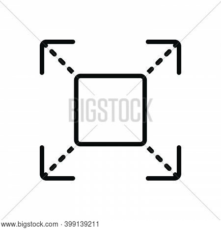 Black Line Icon For Extend Prolong Expand Enlarge Distend Develop Widen Fullscreen Broaden Amplify S