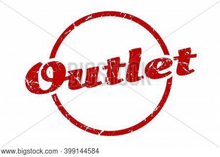 Outlet Sign. Outlet Round Vintage Grunge Stamp. Outlet