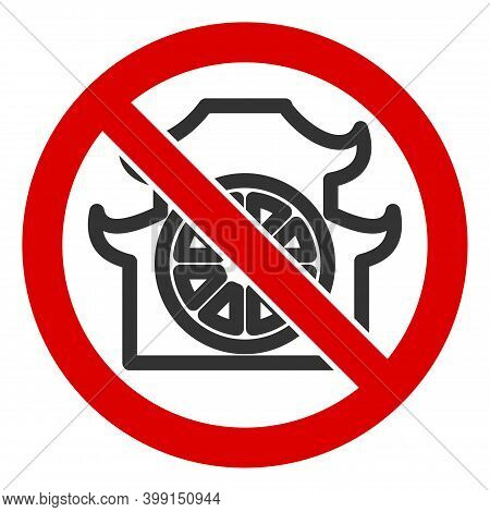 No Shinto Shrine Icon. Illustration Style Is A Flat Iconic Symbol Inside Red Crossed Circle On A Whi