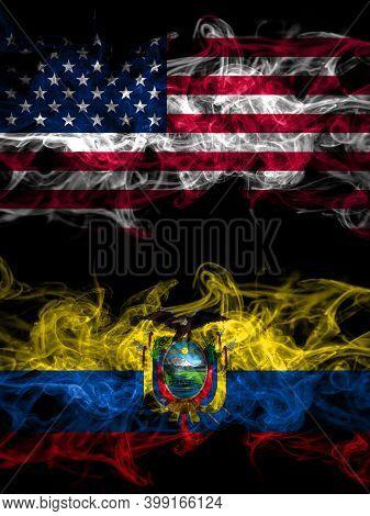 United States Of America, America, Us, Usa, American Vs Ecuador, Ecuadorian Smoky Mystic Flags Place