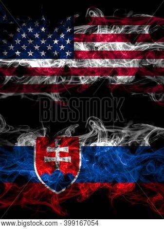 United States Of America, America, Us, Usa, American Vs Slovakia, Slovakian Smoky Mystic Flags Place
