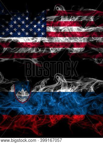 United States Of America, America, Us, Usa, American Vs Slovenia, Slovenian Smoky Mystic Flags Place