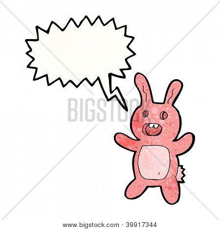cartoon scary rabbit cartoon character