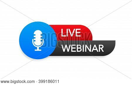 Live Webinar Button, Icon. Vector Stock Design
