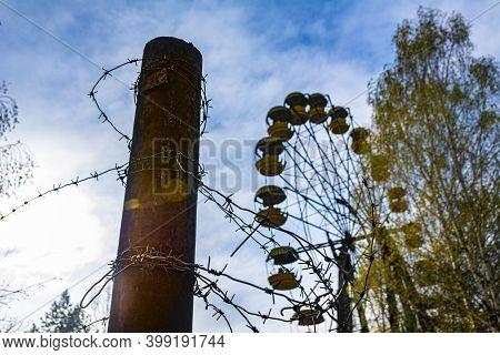 Ferris Wheel In The City Of Pripyat. Chernobyl 30 Km Exclusion Zone