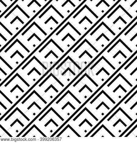 Seamless Pattern. Chevrons, Rhombuses, Diagonal Lines Ornament. Brackets, Checks, Tilted Stripes Wal