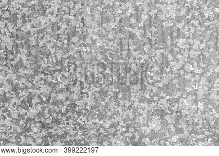 Texture Of Gray Metal Tin With A Variety Of Unique And Beautiful Carved Patterns And Figures. Zinc G