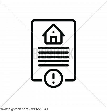 Black Line Icon For Risk Hazard Peril Danger Riskiness Property Home Calm Legal Paper