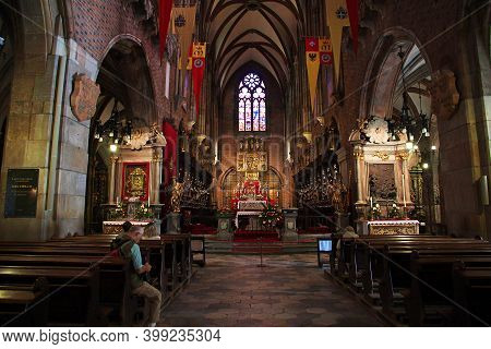 Wroclaw, Poland - 16 Sep 2015: The Church In Wroclaw City, Poland