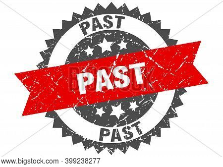 Past Grunge Stamp With Red Band. Past