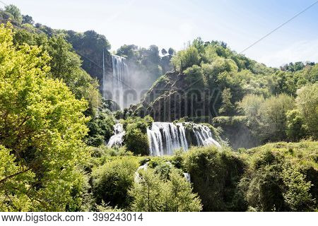 Marmore Falls, Umbria, Italy (cascata Delle Marmore) - A Man-made Waterfall Created By The Ancient R