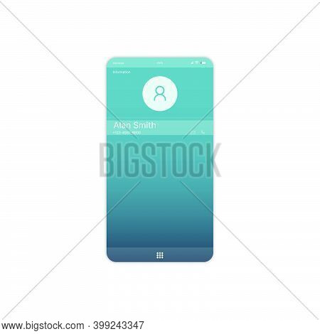 Mobile Contact Information Ui, Ux, Gui Screen And Flat Web Icons For Mobile Apps. Contact Informatio