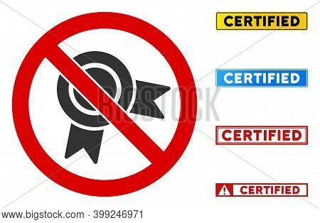 No Reward Stamp Sign With Messages In Rectangular Frames. Illustration Style Is A Flat Iconic Symbol