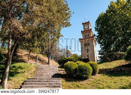 The Clock Tower In Trikala, Greece. The Tower Was Built In The 17th Century By The Ottomans, However