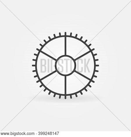 Outline Gear Or Cog Vector Concept Icon Or Symbol
