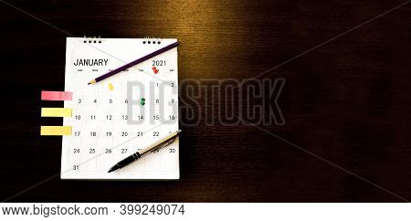 On Calendar Book,female'hand Of Planner Writing Daily Appointment.woman Mark And Noted Schedule(holi