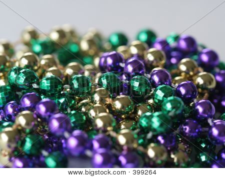 Mardi Gras Beads Close Up