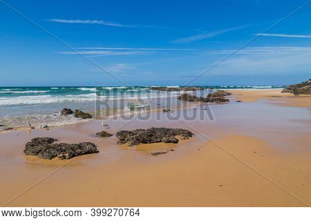 Beautiful empty beach in Alentejo, Portugal