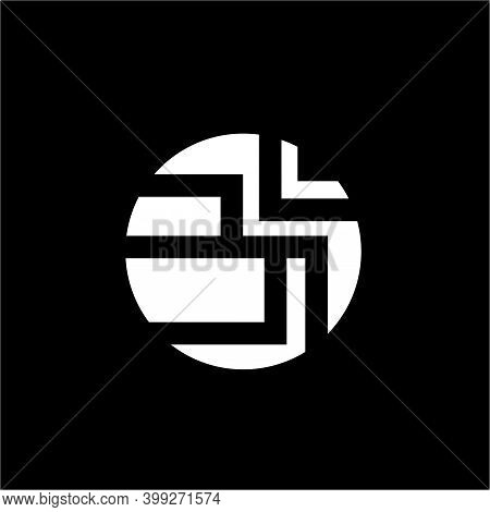 Om In Round Negative Space. Negative Space Use For Om Symbol. Om Is A Hinduism Holy Symbol.